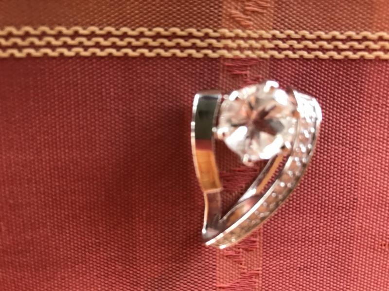 Mason County topaz in antique mounting.