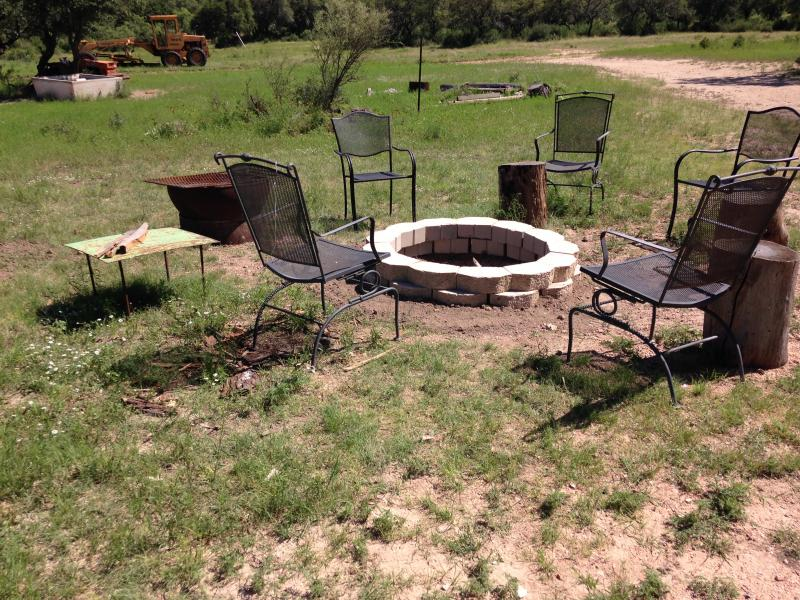 New fire pit at Mason Mountain Manor